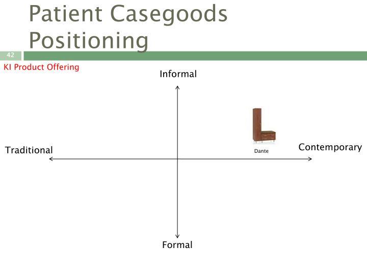 Patient Casegoods Positioning