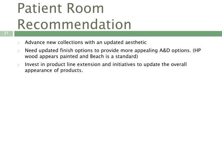 Patient Room Recommendation