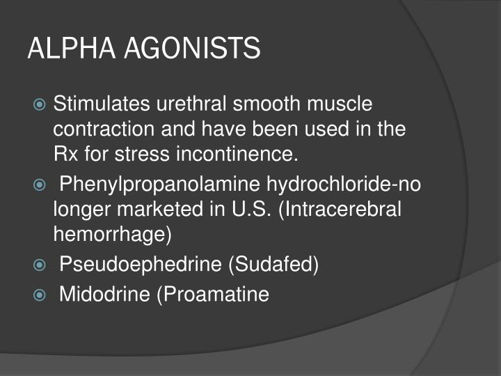 ALPHA AGONISTS