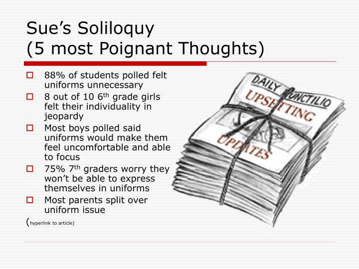 Sue's Soliloquy