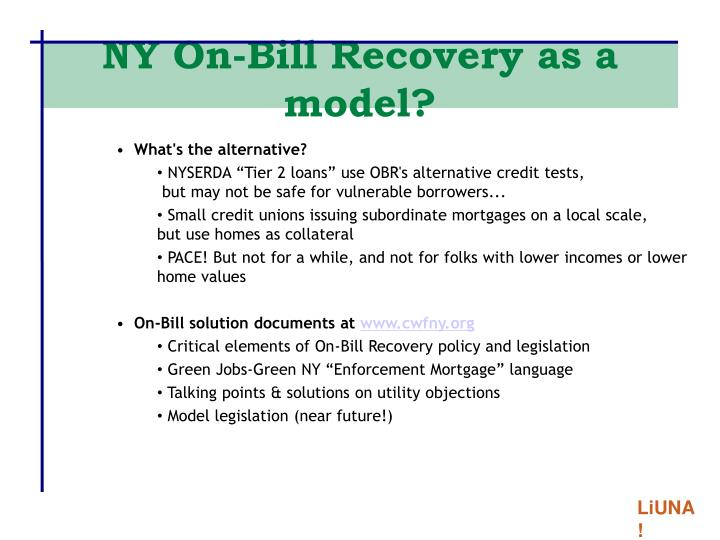 NY On-Bill Recovery as a model?