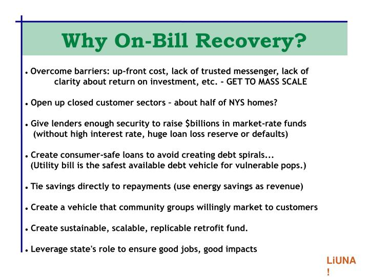 Why on bill recovery