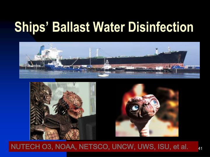 Ships' Ballast Water Disinfection