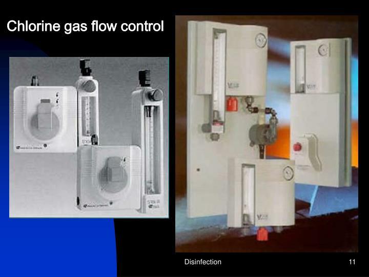 Chlorine gas flow control