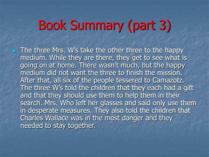 Book Summary (part 3)