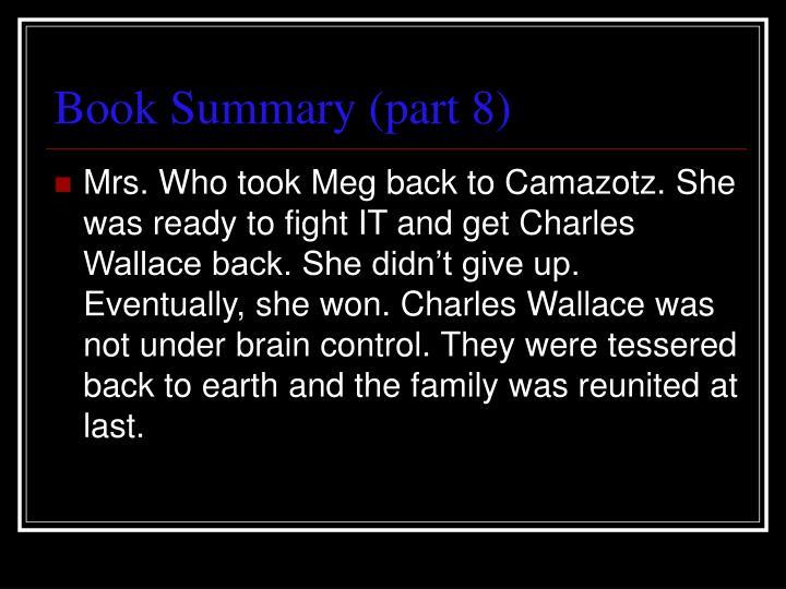 Book Summary (part 8)