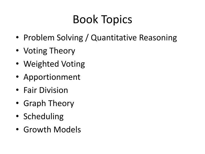 Book Topics