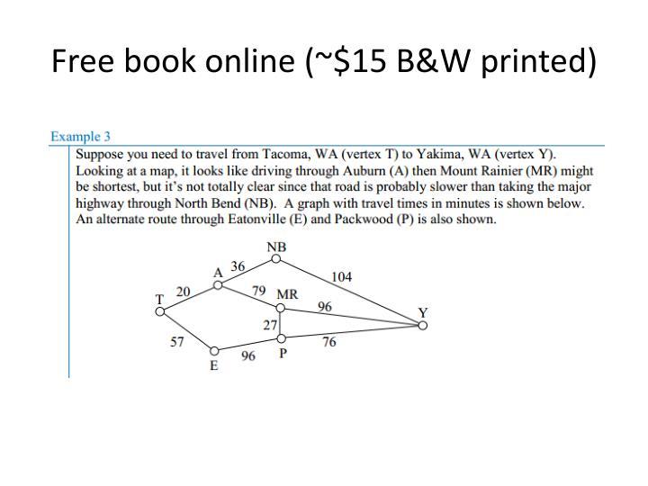 Free book online (~$15 B&W printed)