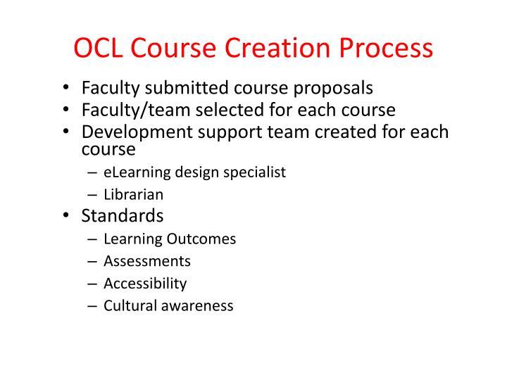 OCL Course Creation Process