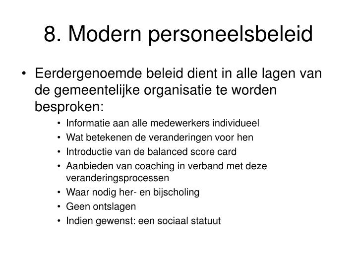 8. Modern personeelsbeleid