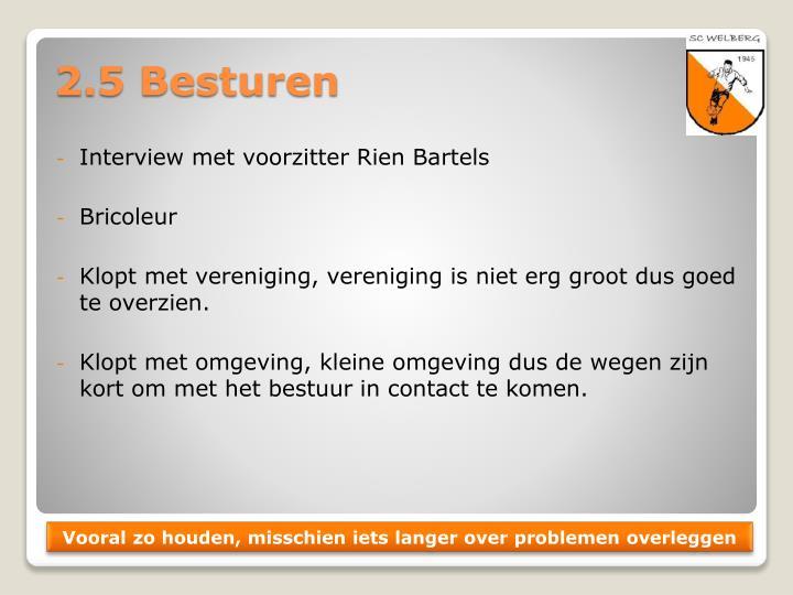 Interview met voorzitter Rien Bartels