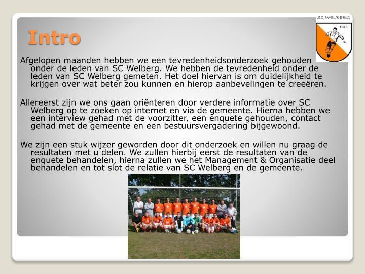 Afgelopen maanden hebben we een tevredenheidsonderzoek gehouden onder de leden van SC Welberg. We hebben de tevredenheid