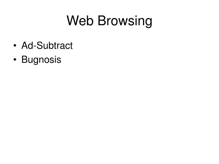 Web Browsing