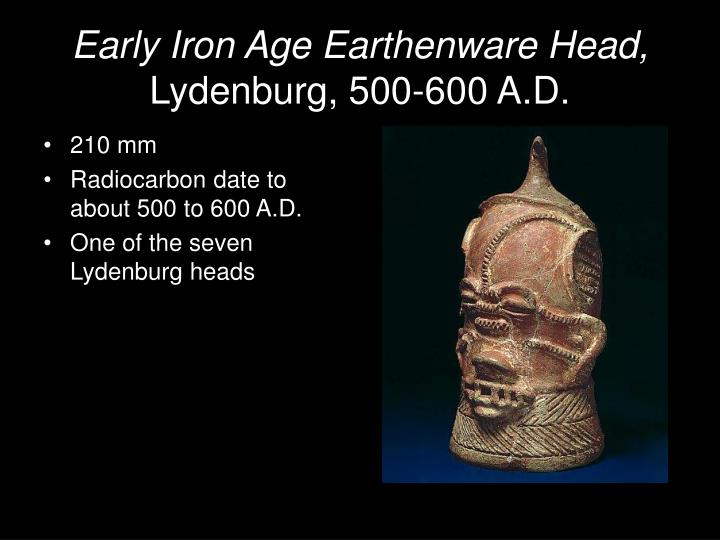 Early Iron Age Earthenware Head,