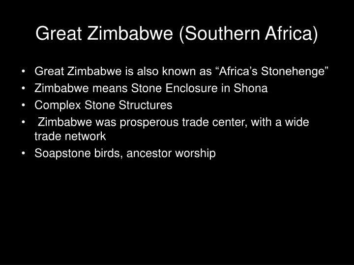 Great Zimbabwe (Southern Africa)