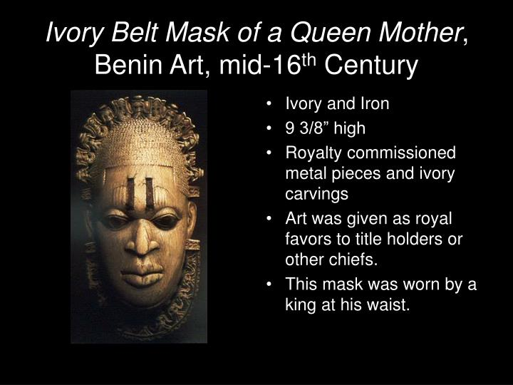 Ivory Belt Mask of a Queen Mother