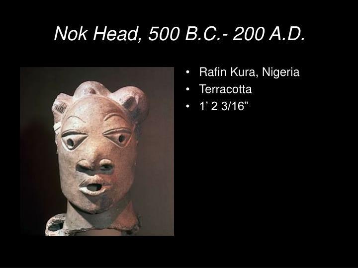 Nok Head, 500 B.C.- 200 A.D.