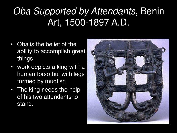 Oba Supported by Attendants