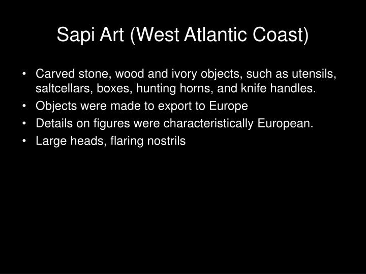 Sapi Art (West Atlantic Coast)