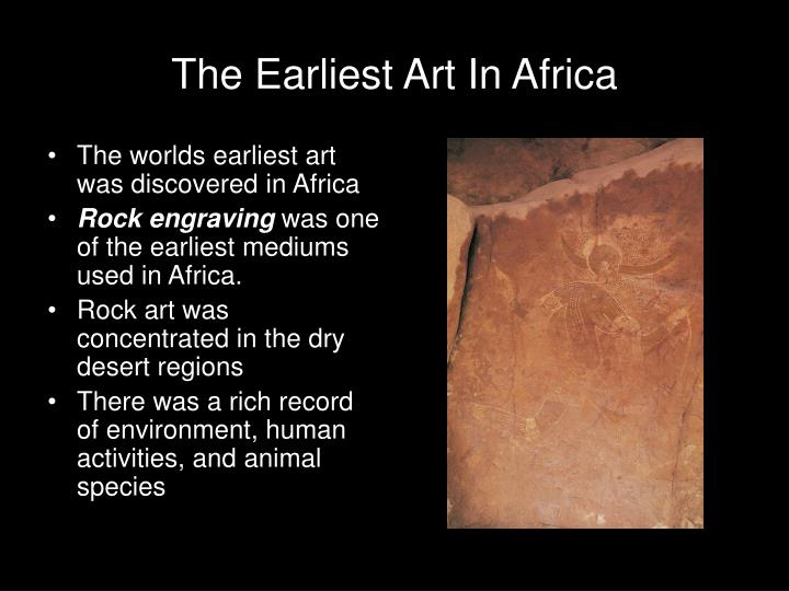 The Earliest Art In Africa