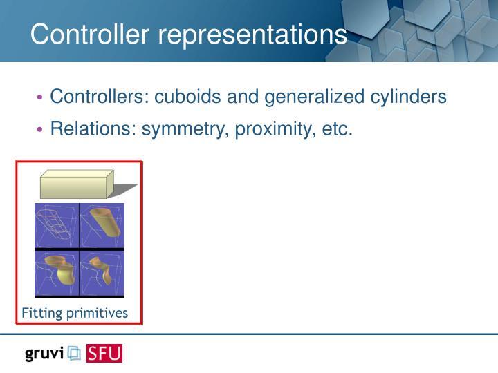 Controller representations
