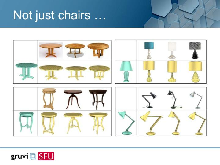 Not just chairs …