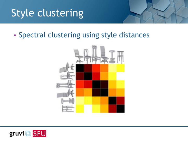 Style clustering