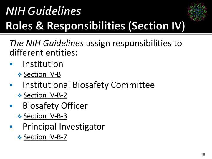 NIH Guidelines