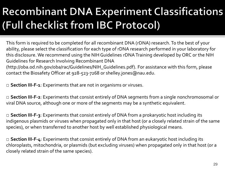 Recombinant DNA Experiment