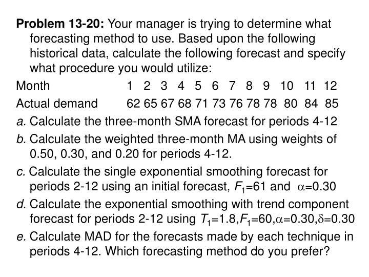 Problem 13-20: