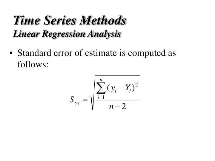 Time Series Methods