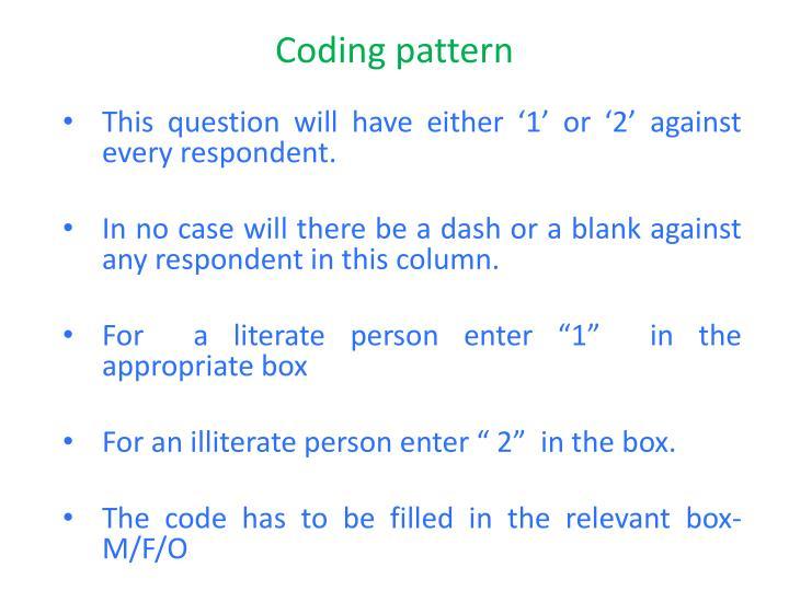 Coding pattern