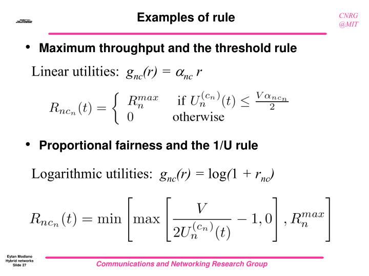 Examples of rule