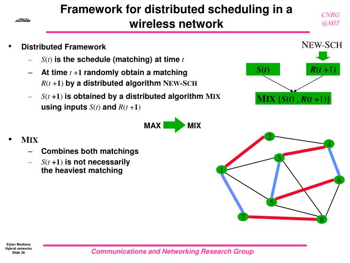 Framework for distributed scheduling in a wireless network
