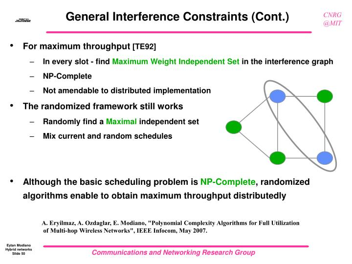 General Interference Constraints (Cont.)