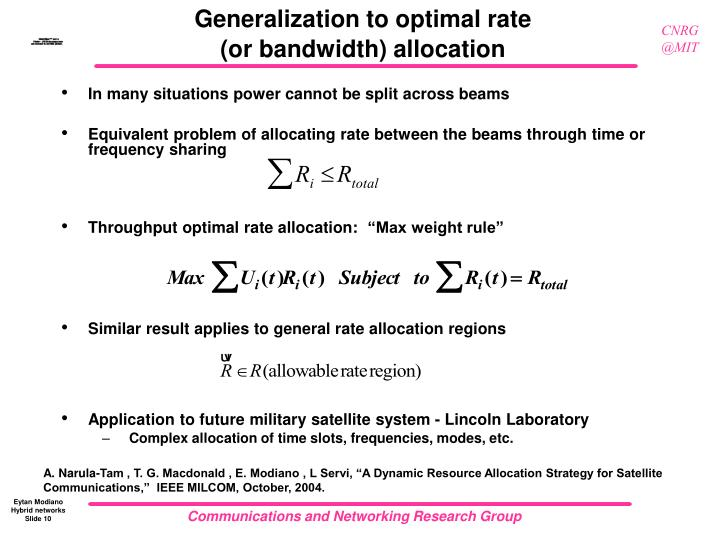 Generalization to optimal rate