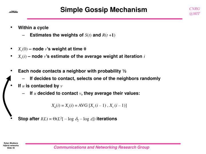 Simple Gossip Mechanism