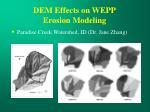 dem effects on wepp erosion modeling
