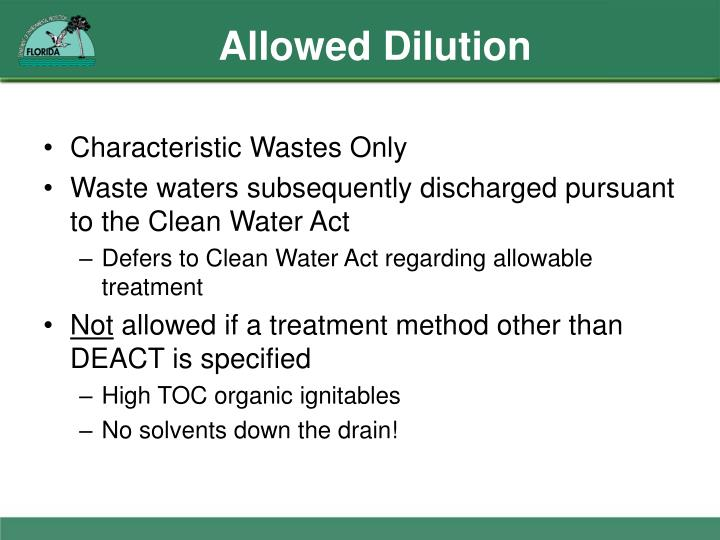 Allowed Dilution