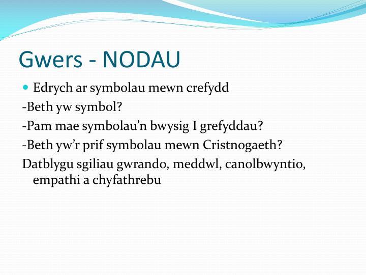 Gwers - NODAU