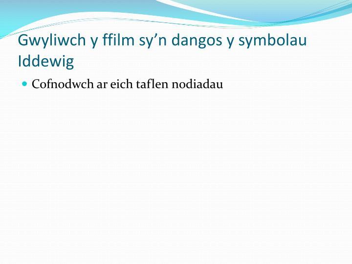 Gwyliwch y ffilm sy'n dangos y symbolau Iddewig