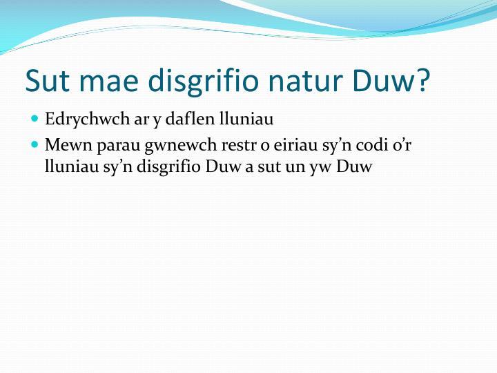 Sut mae disgrifio natur Duw?