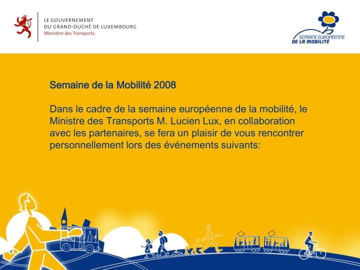 Semaine de la Mobilité 2008