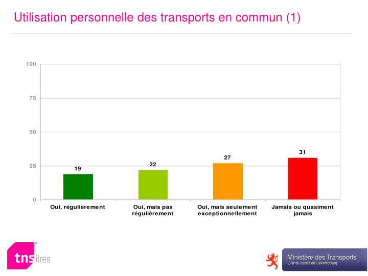 Utilisation personnelle des transports en commun (1)