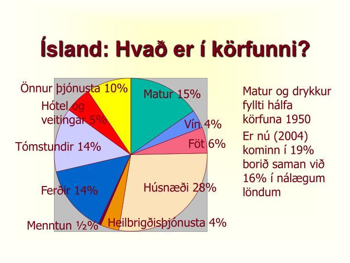 Ísland: Hvað er í körfunni?