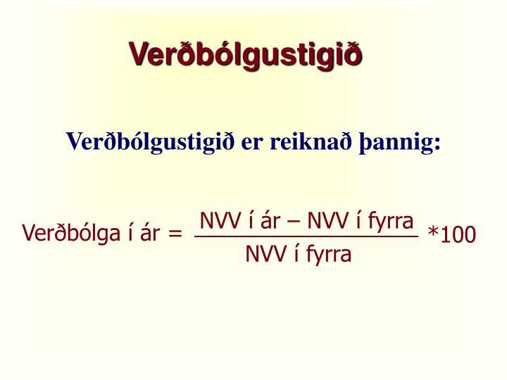 Verðbólgustigið