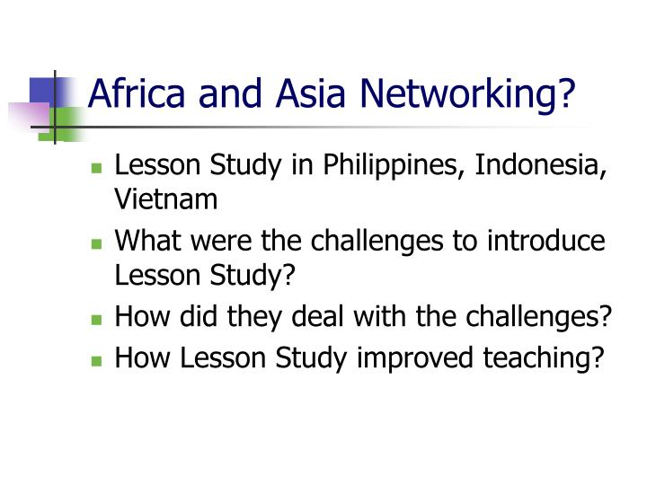 Africa and Asia Networking?