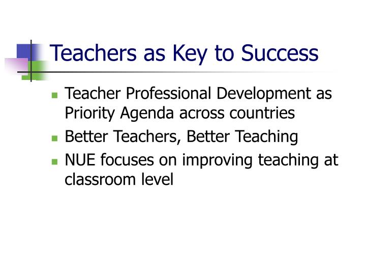 Teachers as Key to Success