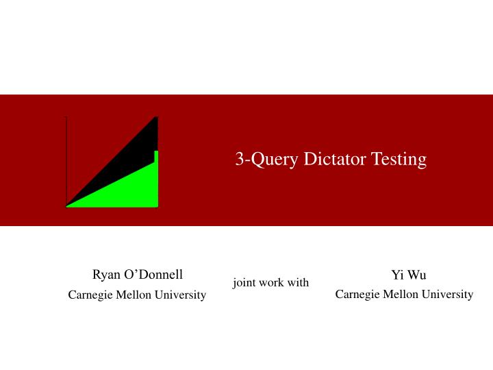 3 query dictator testing