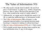 the value of information vi